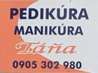 Pedikúra - Manikúra Táňa salón