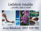 Liečebné masáže - Anna Rábeková salón